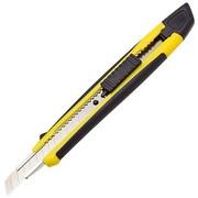 Нож канцелярский 9мм усиленный прорезиненный корпус