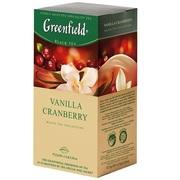 Чай Гринфилд Vanilla Cranberry (черный фруктовый)