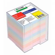 Цветной блок для записей в пластбоксе (80х80; 800л)