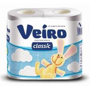Бумага туалетная двухслойная Veiro Classic