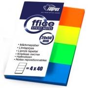 Пластиковые закладки с липким краем (160л 4цв.)