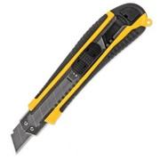 Нож 18мм с прорезиненным корпусом+2 cменных лезвия